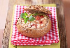 White bean soup Royalty Free Stock Image
