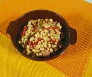 White bean soup. White bean and vegetable soup royalty free stock photo