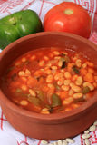 White bean soup in serving bowl Stock Images