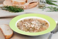White bean soup Royalty Free Stock Photo