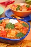 White bean turkey chili Stock Photography