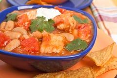White bean turkey chili Royalty Free Stock Photos