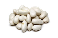 White beans. In isolated white background Royalty Free Stock Photo