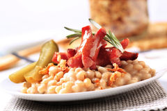 White Beans And Sausages Stock Images