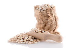White beans bag Stock Images