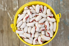 White beans in a bucket Stock Photo