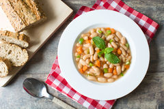 White beans with carrot. And green pepper Royalty Free Stock Photo