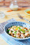 White beans with green onions, salad Royalty Free Stock Image