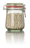 White beans in a jar Stock Image