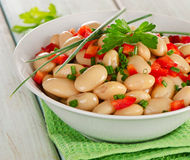 White beans salad  in    bowl Royalty Free Stock Photo