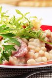 White beans with sausage Stock Photos