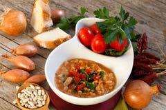 White Beans Soup Stock Photo