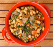 White Beans Stew Royalty Free Stock Photo