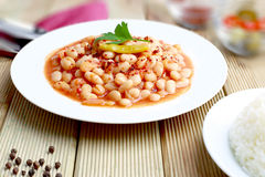 White beans stewed Stock Photo