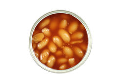 White beans in a tin Royalty Free Stock Photo