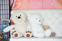 White bear dolls Stock Image