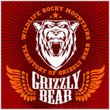 White bear head - vector emblem Royalty Free Stock Photography