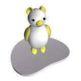 White she-bear on an ice floe, 3d Royalty Free Stock Photos
