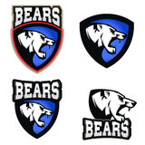 White bear illustration. Angry bears, sport club or team emblem Stock Images