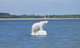White bear on the sea Royalty Free Stock Photos