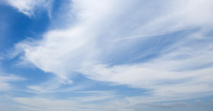 White beautiful clouds in the blue sky Royalty Free Stock Image