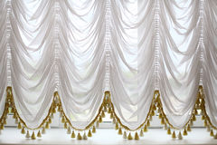 White beautiful curtains Royalty Free Stock Photos