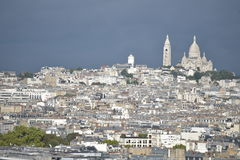 White and beautiful Montmartre / View of Paris. Paris, Metropolis, Panorama of the big city, the Majestic, the Paris, France attractions Stock Image