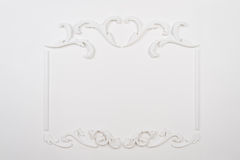 White beautiful rectangular stucco Stock Photos
