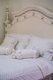 White bed Stock Image