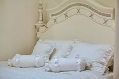 White bed Stock Photography