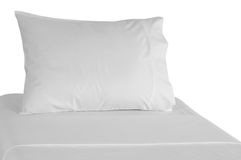White bed. Stock Photography