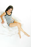 On white bed clothes Stock Photo