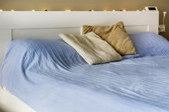 White bed royalty free stock images