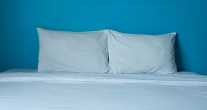 White bed Stock Images