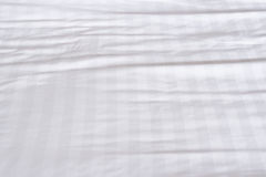 White bed sheets. Texture background Royalty Free Stock Image