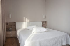 White bedroom Stock Photos