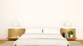 White bedroom clean design - 3d Rendering Royalty Free Stock Photos