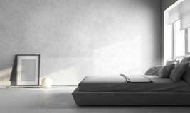 White bedroom stock photography