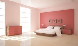 White bedroom design Stock Images