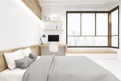 White bedroom interior Royalty Free Stock Photo