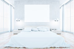 White bedroom interior Stock Photos