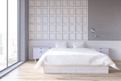 White bedroom interior Royalty Free Stock Photography