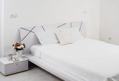 White bedroom Stock Photography