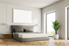 White bedroom corner, poster royalty free illustration
