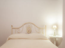 White bedroom Stock Image