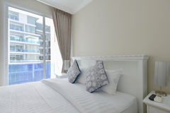 White bedroom Royalty Free Stock Photos