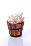 White beech mushrooms, Shimeji mushroomin a basket, Edible mushroom Royalty Free Stock Photography