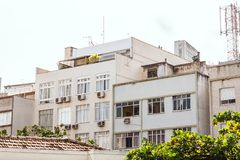 White and Beige Concrete High-rise Building Stock Photography
