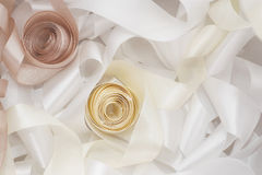 White and beige ribbon Royalty Free Stock Photo