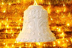 The white bell for christmas Royalty Free Stock Photography